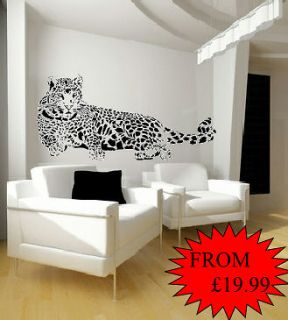 SUPER SIZE BIG CAT/ CHEETAH Wall Sticker/Decal MORE SIZES AND COLOURS
