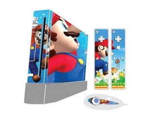 New Super Mario Bros Sticker For Wii Case Cover GIFT And 2 Remotes