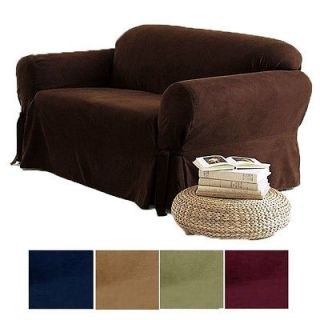 solid micro suede couch sofa love seat chair cover