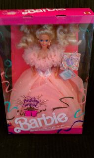 mattel birthday surprise barbie doll 1991 nib 3679 time left