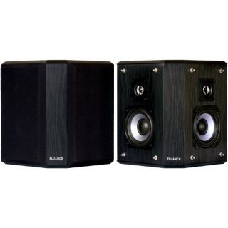 AVBP2 Wood Bipolar Surround Sound Satellite Speakers Black Ash Finish