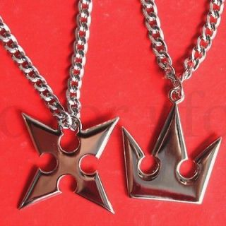 kingdom hearts sora crown roxas cross necklaces new from