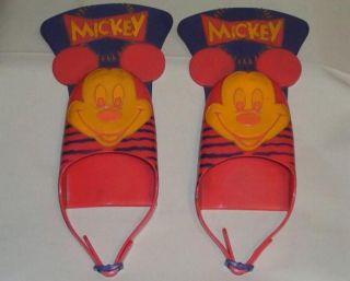 disney mickey mouse kids children swim fins flippers time left