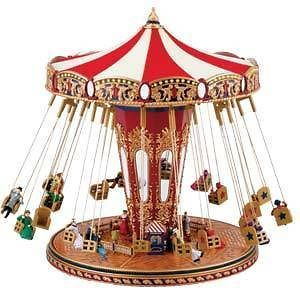 mr christmas world s fair swing carousel music box new