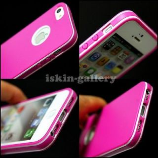 ULTRA THIN TPU SOFT PINK RUBBER BUMFER MATTE GEL COVER CASE FOR IPHONE