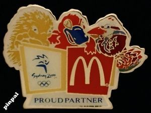 Olympic Pin Badge~Sydney 2000~Proud Partner~Mascots Millie~Syd~Oly