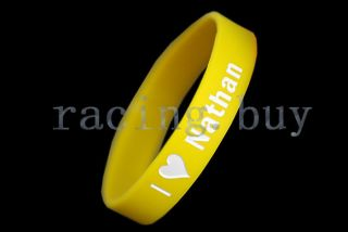 THE WANTED UK Band Nathan Sykes Yellow Silicone Bracelet Wristband
