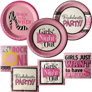 Bachelorette Party Supplies ~ Bridal Shower Tableware ~ Pick 1 or