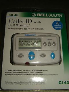 NEW Bellsouth Caller ID with Call Waiting CI 43 Factory Sealed