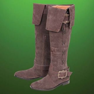 Maid Marion Tall Suede Medieval Boots Robin Hood Movie Replica Size 7