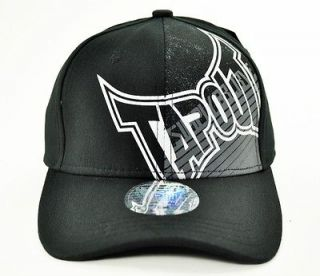 New Mens TAPOUT Logo Fitted Cap Hat UFC MMA Black Grey White Simply