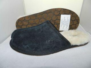UGG Australia Scuff Men Slipper 5776 Black Suede 100% Authentic Brand