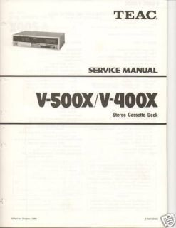 original teac service manual v 500x v400x cassette deck time