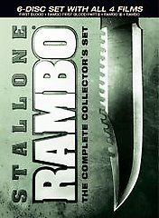 Rambo The Complete Collectors Set DVD, 2008, 6 Disc Set, Canadian