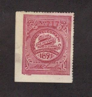 15t7 postal telegraph company stamp 02 15t7