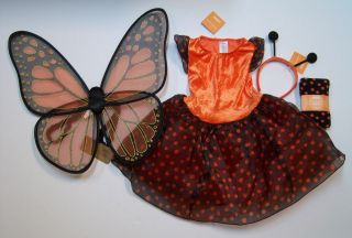 NWT Gymboree 3/3T 4/4T Monarch Butterfly Costume Tights Wings