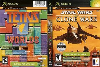 Star Wars The Clone Wars Tetris Worlds Online Edition Combo Xbox, 2003