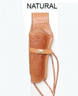 LEFT HANDED GUN HOLSTER REVOLVER WESTERN COWBOY NATURAL GENUINE