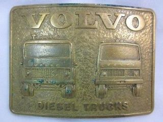 DIESEL TRUCKS BRASS ADVERTISING BELT BUCKLE SEMI BIG RIG TRUCKING