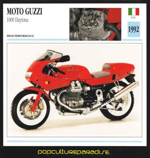 1992 moto guzzi 1000 daytona motorcycle picture card from canada