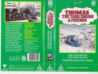 THOMAS THE TANK ENGINE THE DEPUTATION VHS VIDEO PAL~ A RARE FIND