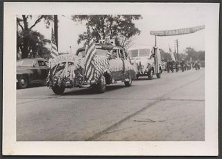 Vintage Car Photo Divco Milk Truck Riverdale Illnois Carnival Parade