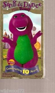 barney sing and dance with barney vhs 1999 buy multiple