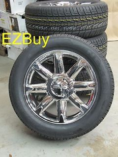 20 GMC YUKON DENALI FACTORY CHROME WHEELS 5304 NEXEN TIRES BRAND NEW