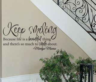 marilyn monroe quote wall decals in Decals, Stickers & Vinyl Art
