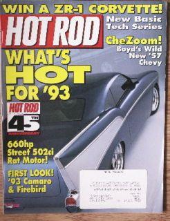 Hot Rod MAGAZINE Jan 1993 Camaro Firebird CheZoom Boyd Coddington 57