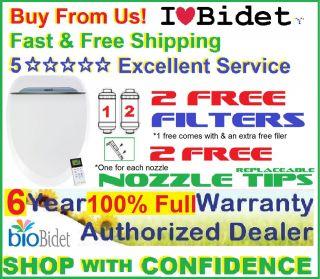 FREE FILTERS+2NOZZLE TIPS Bio Bidet USPA 6800 Bidet Toilet Seat