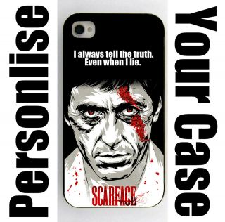 Personalised iPhone 4 Case Cusomtise Cover Tony Montana Quotes Names