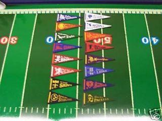 1967 NFL MINI PENNANT SET (16) TUDOR ELECTRIC FOOTBALL