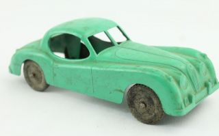 vintage tootsie toy diecast metal green jaguar xk 140 car