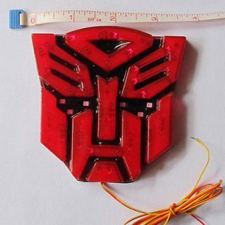 Red 3W/12V High Light LED Transformers Autobots auto Emblem Vehicle