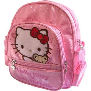 Hello Kitty Kids Nylon Backpack School Bag Bookbag Pink 012