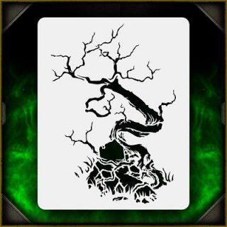 Newly listed Creepy Tree 3   Airbrush Stencil Template Airsick Zombies