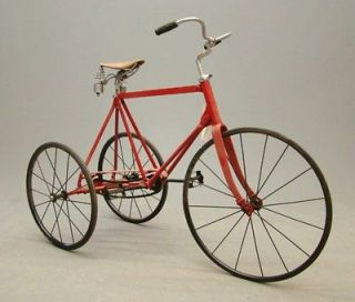 restored red vintage antique tricycle c 1920 time left $