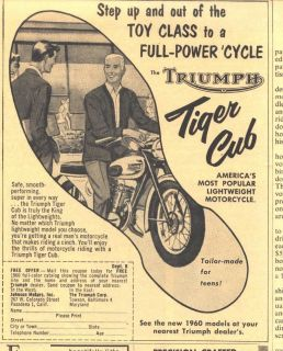 1960 lg b ad tiger cub triumph motorcycle time left