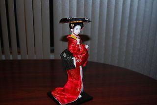 12 vintage handmade silk brodade japanese geisha doll time left