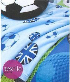 football union jack blue boys fleece blanket throw time left