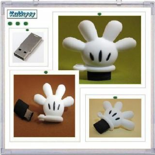 USB Disney Mickey Glove Hand Flash Drive Memory Stick Keychain KYU73