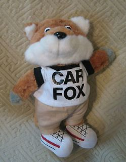 Show Me The Carfax Plush Car Fox Stuffed Animal Toy Mascot Car Fax EUC