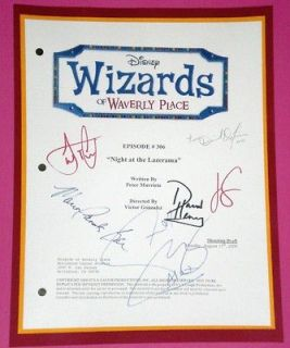 wizards of waverly place signed script rpt selena gomez time