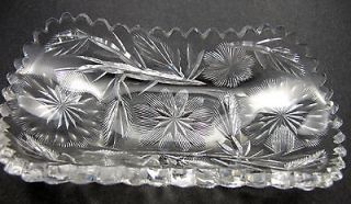 Newly listed ABP cut glass Signed Libbey spoon tray American brilliant