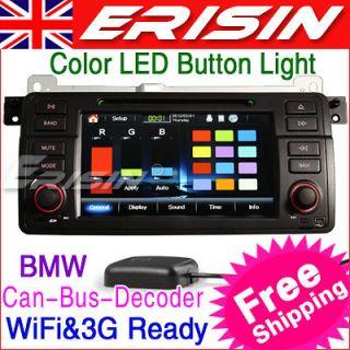 ES1046EN 7 HD Car DVD Player GPS IPOD TV WiFi 3G RMVB BMW 3 E46 M3