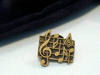 Masonic Lodge Organist Musician Bar Of Music Lapel Pin Badge and Gift