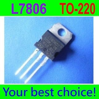 7806 L7806 L7806CV LM7806 6V Linear Voltage Regulator 1A 1000mA TO 220