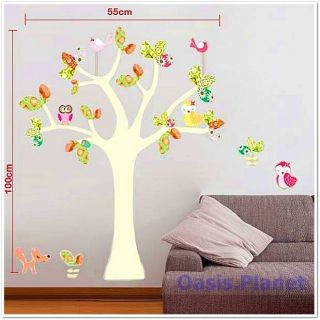 Colourful Tree Wall Stickers Mural art Decal Self Adhesive Wallpaper