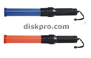 Compact 16 Traffic Baton Wand, 4 Red with 4 Blue LED Steady glow